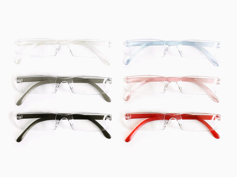 Rimless Distance Glasses : 3 PAIRS NEW RIMLESS READERS READING GLASSES - VARIOUS ...